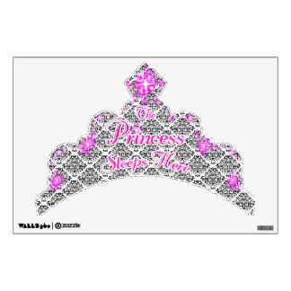 The Princess Sleeps Here Crown Wall Decal