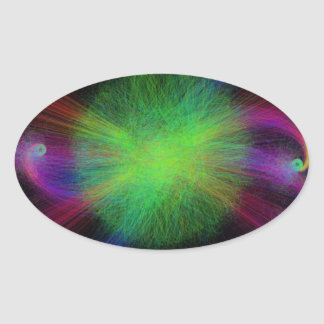 The Prism of Creation Oval Sticker