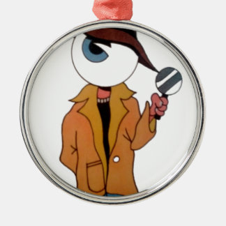 The Private Eye Metal Ornament