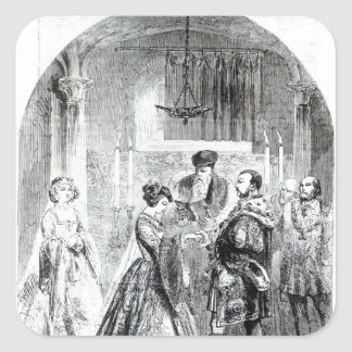 The Private Marriage of Anne Boleyn Square Sticker
