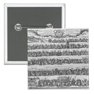 The Procession of Pope Innocent XII 2 Inch Square Button