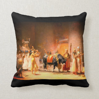 The Procession of the Sacred Bull Anubis Throw Pillow