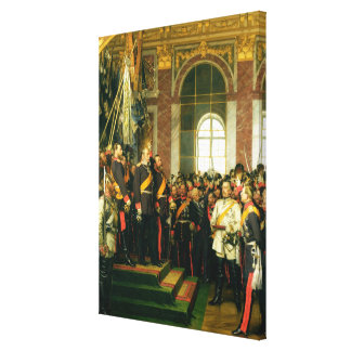 The Proclamation of Wilhelm as Kaiser Canvas Print