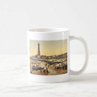 The Promenade and Tower from South Pier, Blackpool Coffee Mug