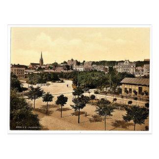 The promenade, Flensburg, Schleswig-Holstein, Germ Postcard