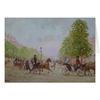 The Promenade on the Champs-Elysees Card