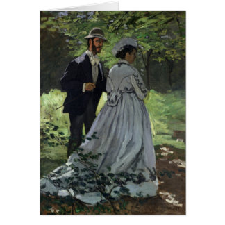 The Promenaders, or Bazille and Camille, 1865 Card