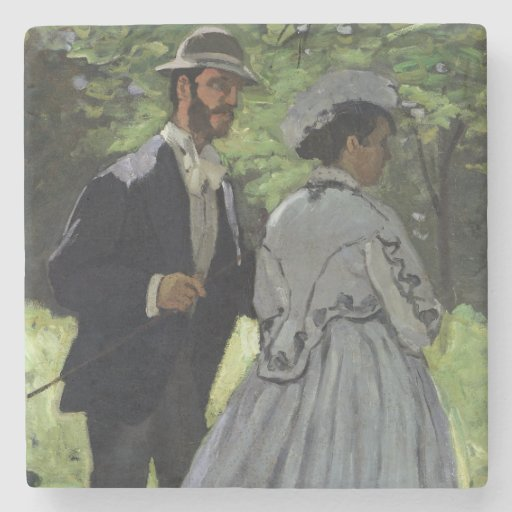The Promenaders, or Bazille and Camille, 1865 Stone Beverage Coaster