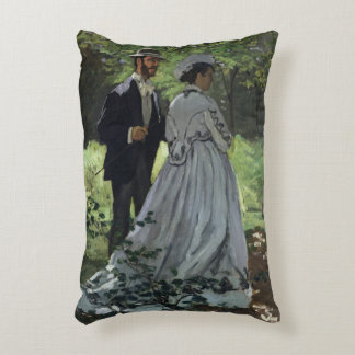 The Promenaders, or Bazille and Camille, 1865 Accent Pillow