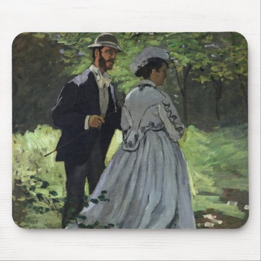 The Promenaders, or Bazille and Camille, 1865 Mousepads