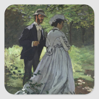 The Promenaders, or Bazille and Camille, 1865 Square Stickers