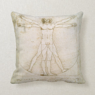 The Proportions of the human figure Throw Pillow