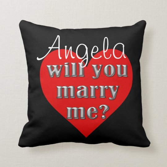 The Proposal Throw Pillow