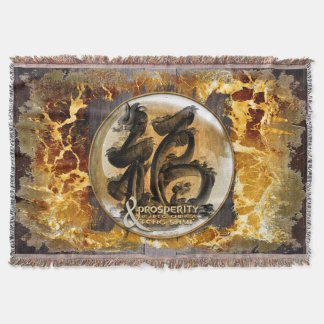 THE PROSPERITY CONNEXION : Art of Chinese Fengshui Throw Blanket