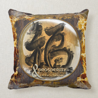 THE PROSPERITY CONNEXION : Art of Chinese Fengshui Throw Pillow