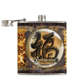 THE PROSPERITY CONNEXION : Art of Fengshui Hip Flask