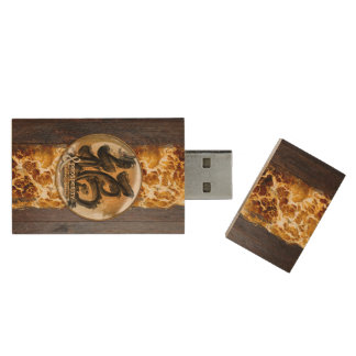 THE PROSPERITY CONNEXION : Art of Fengshui Wood USB 3.0 Flash Drive