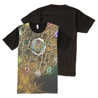 THE PROSPERITY CONNEXION : Gems of Fortune All-Over-Print T-Shirt