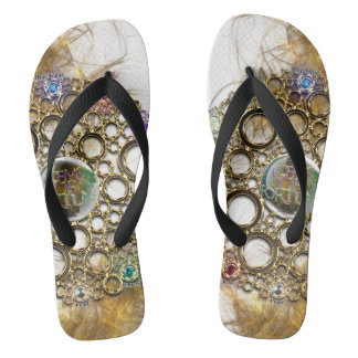 THE PROSPERITY CONNEXION : Gems of Fortune Flip Flops