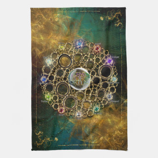 THE PROSPERITY CONNEXION : Gems of Fortune Kitchen Towel