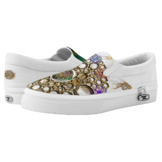 THE PROSPERITY CONNEXION : Gems of Fortune Slip-On Sneakers