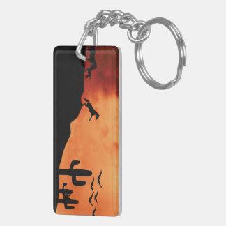 The Protector Double-Sided Rectangular Acrylic Keychain