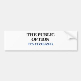 The Public Option Bumper Sticker