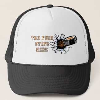 The Puck Stops Here Hockey Hat