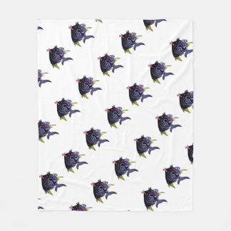 """""""The Puffer"""" Fish With Attitude Fleece Blanket"""