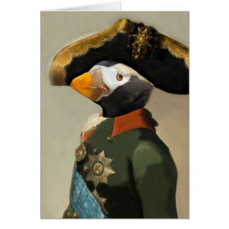 The Puffin Emperor - Anthropomorphic Composite Card