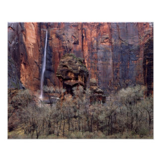 The Pulpit and ephemeral waterfall Poster