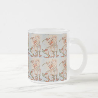 The Pumpkin Dragon ~ Frosted Glass 10 Oz Frosted Glass Coffee Mug
