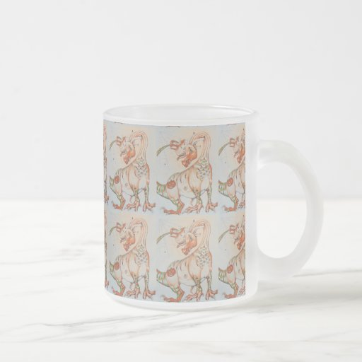 The Pumpkin Dragon ~ Frosted Glass Mugs
