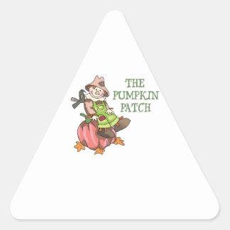 The Pumpkin Patch Triangle Sticker