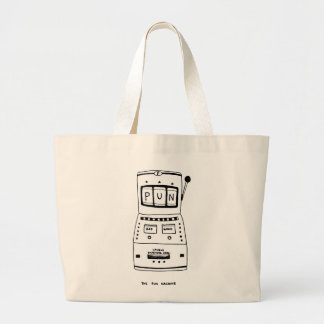 The Pun Machine Large Tote Bag
