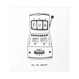 The Pun Machine Notepads