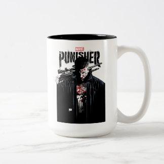 The Punisher | Jon Quesada Cover Art Two-Tone Coffee Mug