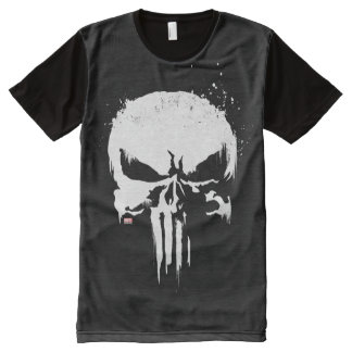 The Punisher | Painted Skull Logo All-Over-Print T-Shirt