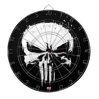The Punisher   Painted Skull Logo Dartboard