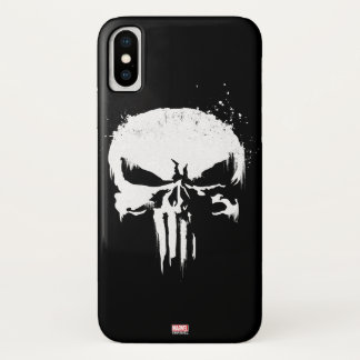 The Punisher | Painted Skull Logo iPhone X Case