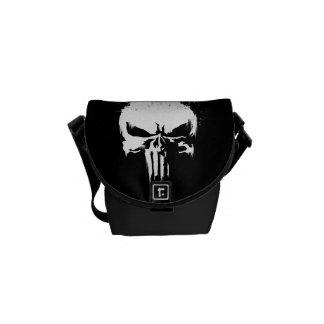 The Punisher | Painted Skull Logo Messenger Bag