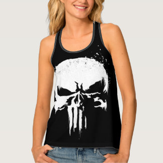 The Punisher | Painted Skull Logo Tank Top