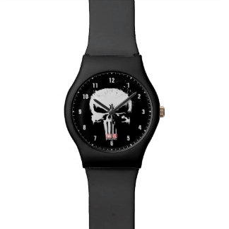 The Punisher | Painted Skull Logo Watch