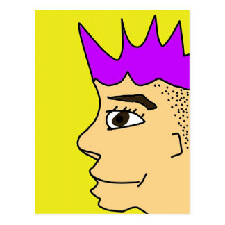 The punk guy cartoon postcard