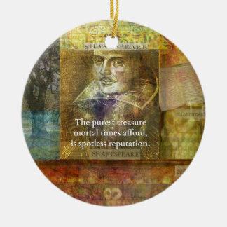 The purest treasure mortal times afford..... round ceramic ornament