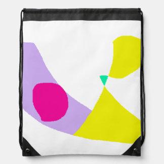 The Purple Banana Drawstring Bag