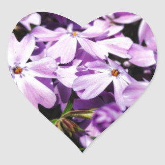 The Purple Flower Patch Heart Sticker