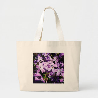The Purple Flower Patch Large Tote Bag