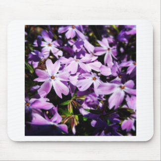 The Purple Flower Patch Mouse Pad
