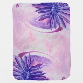 The Purple Flower Swaddle Blankets